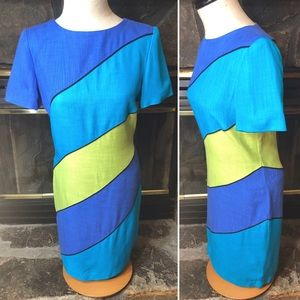 Vintage Color Block Dress by David Warren